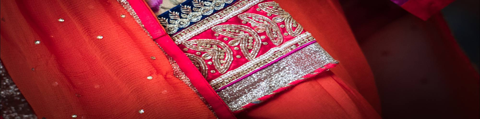 Jo Newbury Photography detail of Sikh wedding dress